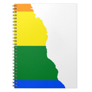 Delaware LGBT Flag Map Notebook