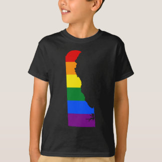 Delaware LGBT Flag Map T-Shirt