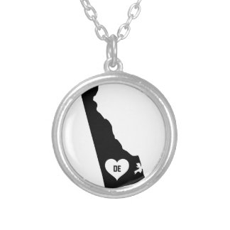 Delaware Love Silver Plated Necklace