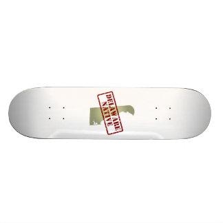 Delaware Native Stamped on Map Skateboard Deck