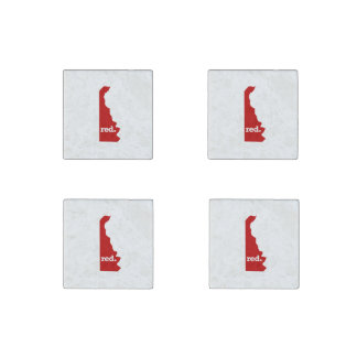 DELAWARE RED STATE STONE MAGNET