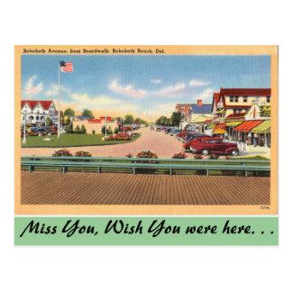 Delaware, Rehoboth Ave. Postcard
