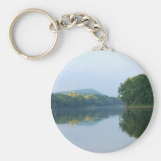 Delaware River Basic Round Button Key Ring