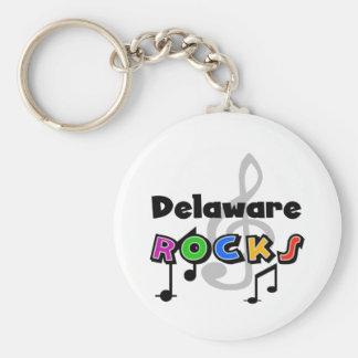 Delaware Rocks Basic Round Button Key Ring
