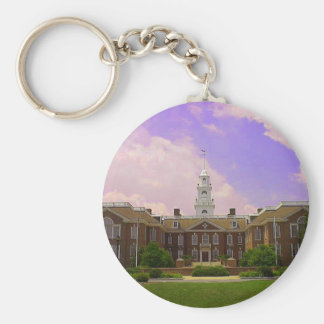 Delaware State Capital Basic Round Button Key Ring