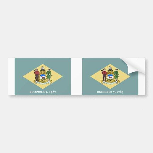Delaware State flag Bumper Stickers