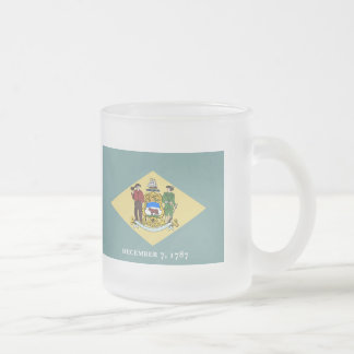Delaware State Flag.png Frosted Glass Coffee Mug