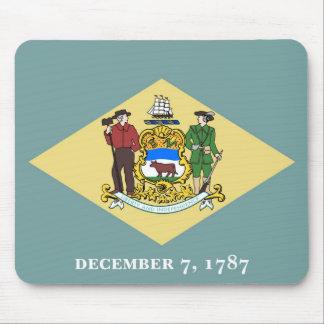 Delaware state flag usa united america symbol mouse pad