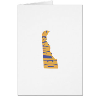 Delaware State Name Word Art Yellow Note Card