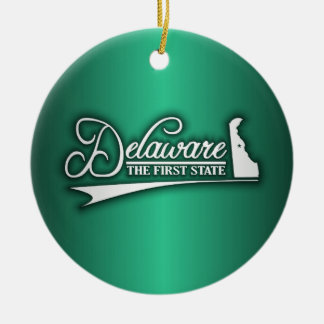 Delaware State of Mine Ceramic Ornament