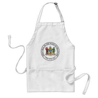 Delaware state seal america republic symbol flag standard apron