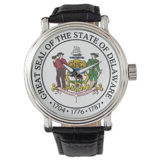 Delaware state seal america republic symbol flag watch