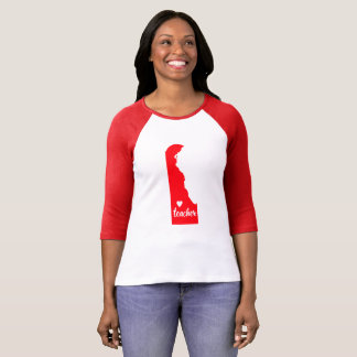 Delaware Teacher Tshirt (Red)