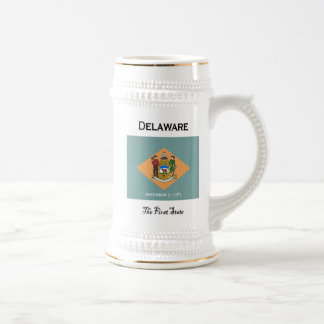 Delaware The First State Beer Stein