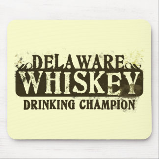 Delaware Whiskey Drinking Champion Mouse Mat