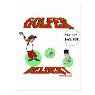 Delbert Golfer Postcard
