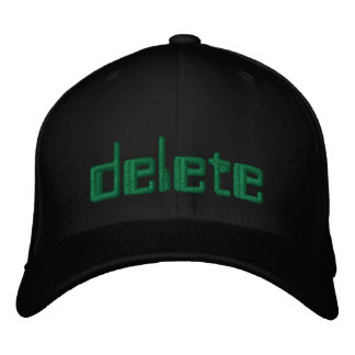 'Delete' embroidered hat geek 1337 pwn