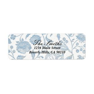 Delft Blue Address Label 2