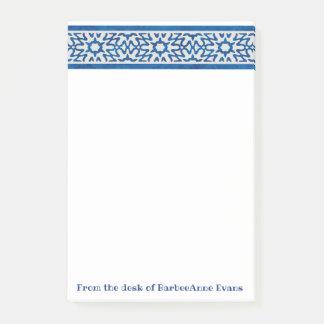 Delft Blue Border Post-it Notes