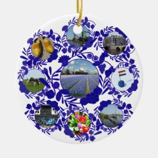 Delft Blue Dutch Delftware Style Holland Ceramic Ornament