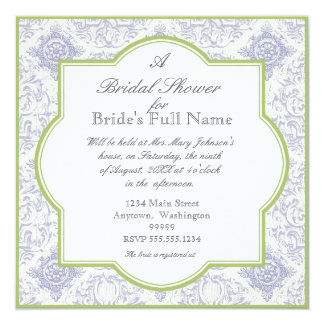 Delft Blue Iris Quatrefoil - Bridal Shower Invite