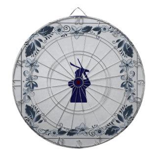 Delft blue tile windmill 'de Roos' in Delft Dartboard