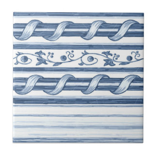 Delft Cord Border Ceramic Tile