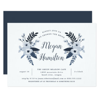 Delft Floral Bridal Shower Invitation
