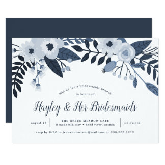 Delft Floral | Bridesmaids Brunch Invitation