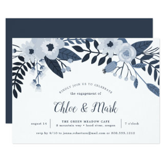 Delft Floral | Engagement Party Invitation