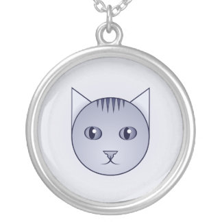 Delft Tabby Face Necklace