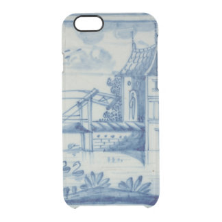 Delft tile showing a drawbridge over a canal, 19th clear iPhone 6/6S case