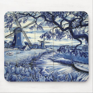 Delft tiling with Windmill Mouse Pad