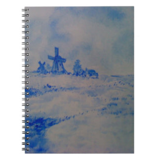 Delft-type scene notebook