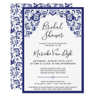 Delfts Blauw | Delft Blue Dutch Bridal Shower Card