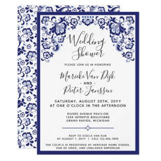 Delfts Blauw | Delft Blue Dutch Wedding Shower Card