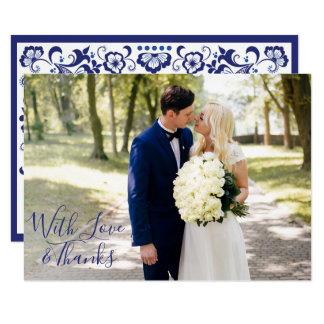 Delfts Blauw | Delft Blue Thank You Single Photo Card