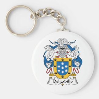 Delgadillo Family Crest Basic Round Button Key Ring