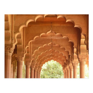 delhi fort red arches post cards