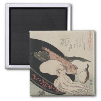 Delicacies of the Sea: Japanese Ukiyo-e Magnet