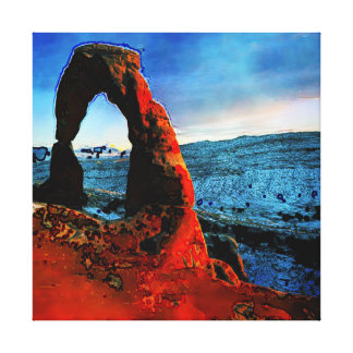 Delicate Arch Abstract Gallery Wrapped Canvas