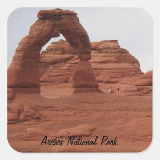 Delicate Arch- Arches National Park Square Sticker