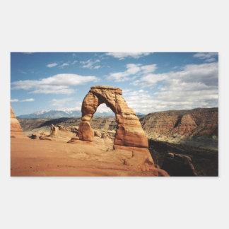 Delicate Arch, Arches National Park, Utah Rectangular Sticker