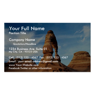 Delicate arch, Arches National Park, Utah, USA Business Card Template