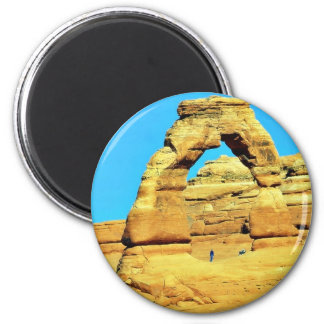 Delicate Arch At Arches National Park Refrigerator Magnet