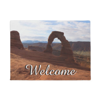 Delicate Arch I at Arches National Park Doormat
