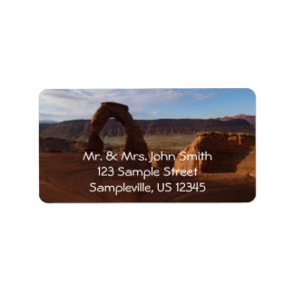 Delicate Arch II at Arches National Park Address Label
