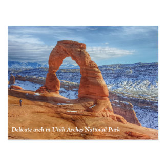 Delicate arch in Utah Arches National Park Postcard