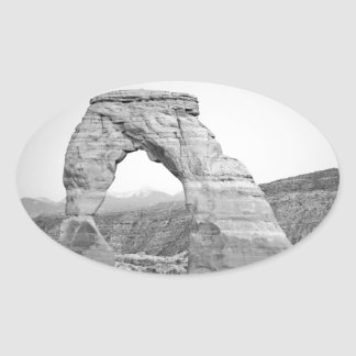 Delicate Arch Moab Oval Sticker