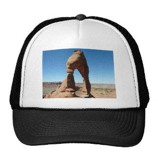 delicate arch side view trucker hat